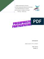 Antecedentes históricos de la elaboración de presupuestos participativos