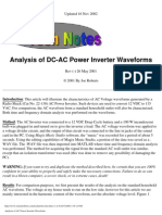 Analysis of AC Power Inverter Waveform 2008