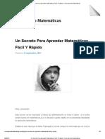 Un Secreto Para Aprender Matemáticas Fácil Y Rápido _ Como Aprendo Matemáticas