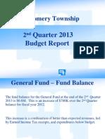 Montgomery Township budget update - 2nd Quarter 2013