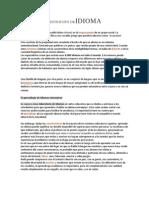 DEFINICIÓN DE IDIOMA Y DIALECTO