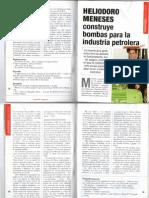 Semblanza HELIODORO MENESES Ingeniero Construye Bombas Para La Industria Petrolera, Por ROSA ANA CALVILLO Abril 2007005