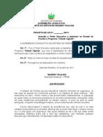 """Projeto de Lei N° 141.2011- Autoriza o Poder Executivo a implantar no Estado da Paraíba o Programa """"Cidade Vigiada""""."""