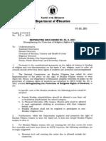 DepEd Order - Reiterating DECS Order No. 53, S.2001 - Hijab/Veil