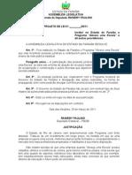 """Projeto de Lei N° 76.2011- Institui no Estado da Paraíba o Programa """"Abrace uma Escola"""" e dá outras providências."""
