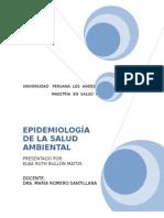 EPIDEMIOLOGÍA DE LA SALUD AMBIENTAL