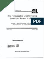 3D holographic Display Using Strontium Barium Niobate