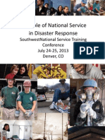 SW 2013 National Service Role in Disaster Response