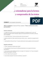 U4 - Preguntas Orientadoras  'Cinco conferencias sobre psiconálisis'