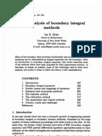 Error Analysis of Boundary Integral Methods