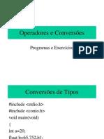 Aula 08 - Operadores e conversões