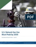 U.S. Natural-Gas Use Must Peak by 2030