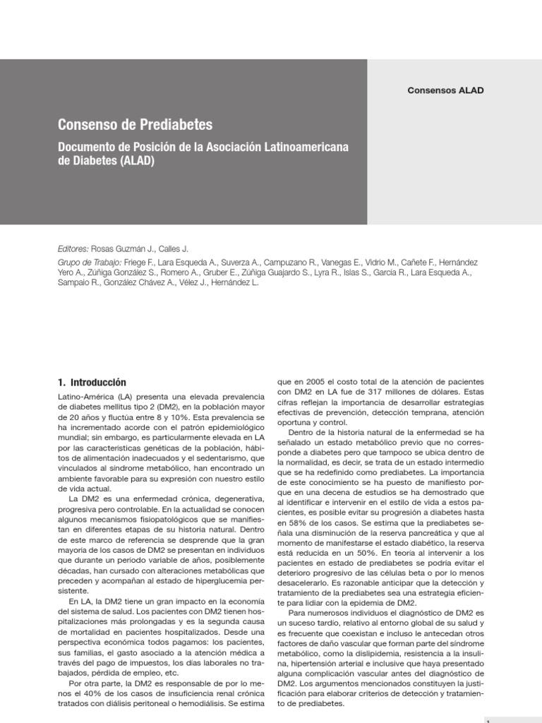 prediabetes metformina duración del tratamiento
