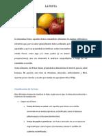 Listado de Frutas