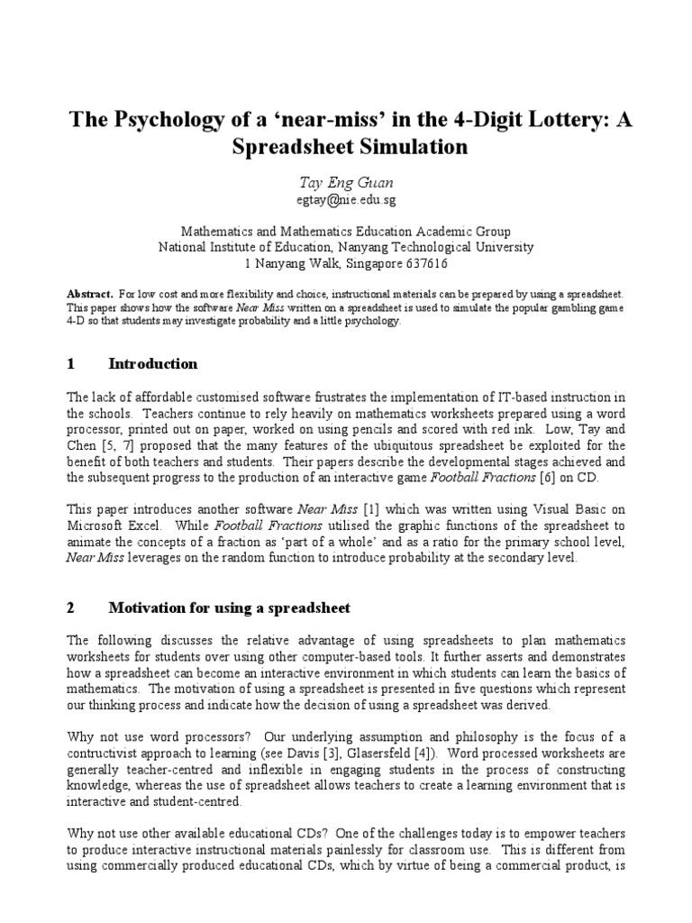 functions gambling worksheet definition