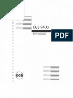 Oce 9400 User Guide