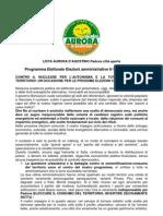 Programma Elettorale Padova Citta Aperta