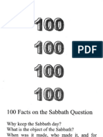100 Facts On The Sabbath Question