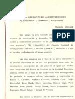 Diamand superación de las restricciones al crecimiento argentino