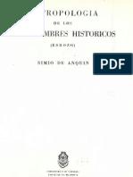 Antropologia de Los Tres Hombres Historicos