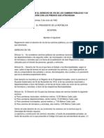 Acuerdo 5-6-1942 Reglamento Derecho de Via