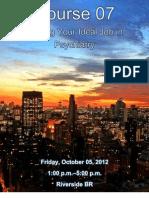 IPS 2012 - Finding Ideal Job in Psychiatry