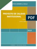 En Construccion - Proyecto de Calidad Institucional - Pci