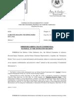Secrecy Order in Garlock asbestos bankruptcy estimation trial