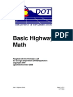 Basic Highway Math Manual
