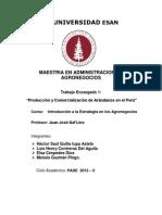 Trabajo Encagado 1 - Produccion y Comercializacion de Arandanos en El Peru