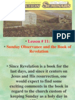 Lesson 11 Revelation Seminars -Sunday Observance and the Book of Revelation