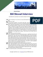 Bill Stewart Jazz Interview