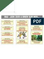 Manifestations à Brem sur mer de mai à juin