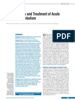 The Diagnosis and Treatment of Acute Pulmonary Embolism REVIEW