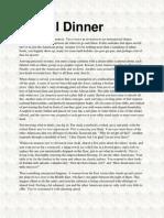 Global Dinner Printable