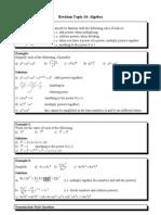 Topic 14 Algebra