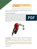 CÁLCULO DE OPERACIÓN DE UN EQUIPO DE MOVIMIENTO DE TIERRAS