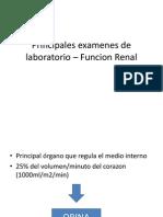 Principales examenes de laboratorio – Funcion Renal 2
