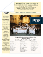 May 17, 2009 Bulletin of the Catholic Church of St. Andrew, Roswell, GA