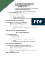 Lista de Proyectos Integradores