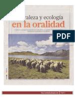 Naturaleza y Ecologia en La Oralidad