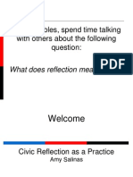 SW 2013 Civic Reflection as a Practice