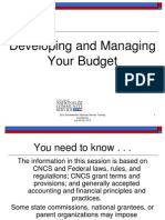 SW 2013 Devolping and Managing a Budget