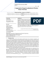 Energy Efficient Approach to Target Localisation in Wireless Sensor Networks