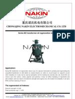 NAKIN-BZ Transformer Oil Regeneration Device