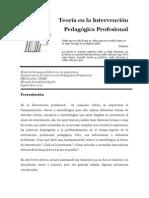 LA TEORÍA EN LA INTERVENCIÓN PEDAGÓGICA PROFESIONAL