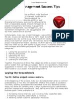21 Project Management Success Tips