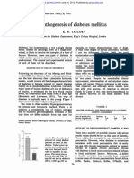 Pathogenesis of Diabetes Mellitus