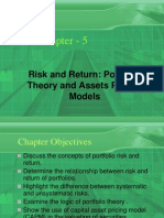 Risk and Return Portfolio Theory and Assets Pricing Models
