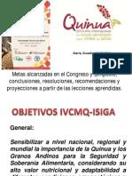 Recomendaciones Del IV Congreso Mundial de La Quinua